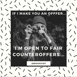 OPEN TO FAIR COUNTERS! 🤝